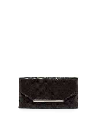 Bardot Metal Mesh Clutch Bag, Black