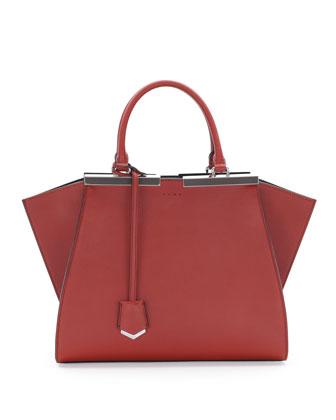 Trois-Jour Petit Bicolor Tote Bag, Rust/Gray