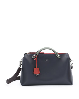 All The Way Medium Tricolor Satchel Bag