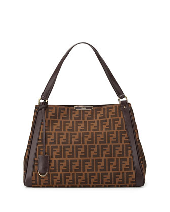 Zucca Double-Handle Hobo Bag, Brown Multi