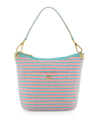 Dame Two-Tone Bucket Shoulder Bag