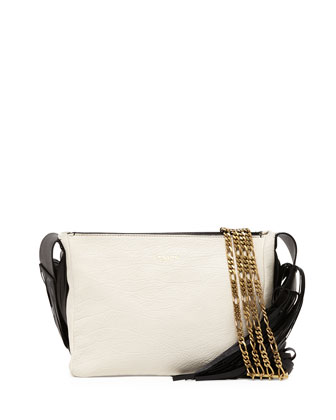 Tribale Fringe Shoulder Bag, White