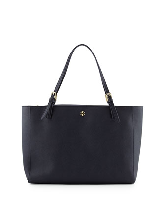 York Saffiano Leather Tote Bag, Tory Navy