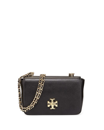 Mercer Chain Leather Shoulder Bag, Black