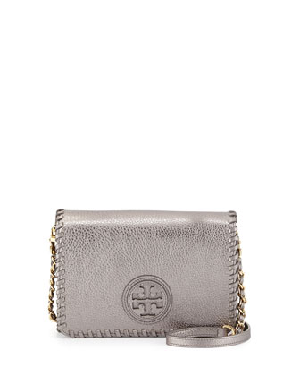 Marion Metallic Combo Crossbody Bag, Gunmetal