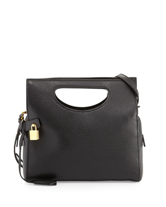 Alix Small Top Handle Shoulder Bag, Black
