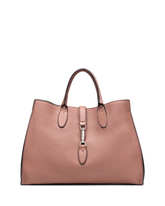 Jackie Soft Leather Top Handle Bag, Blush
