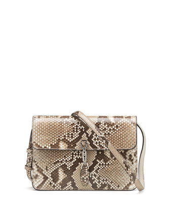 Jackie Soft Python Convertible Wallet, Tan Multi