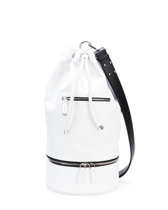 Secchiello Sport Shoulder Bag, White