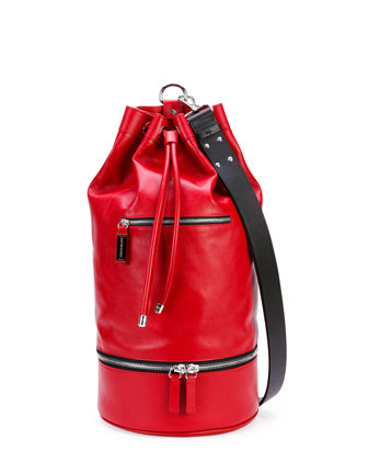 Secchiello Sport Shoulder Bag, Red