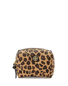 Kerrington Brigitte Cosmetic Bag, Ocelot Print/Black