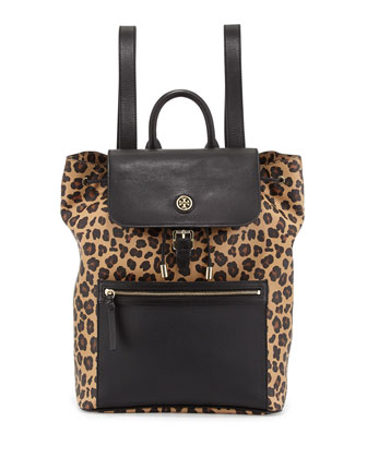 Kerrington Leopard-Print Backpack