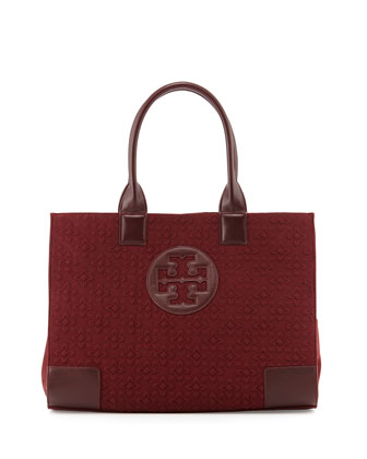 Ella Damask Tote Bag, Deep Berry