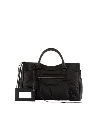 Classic Nylon City Bag, Black