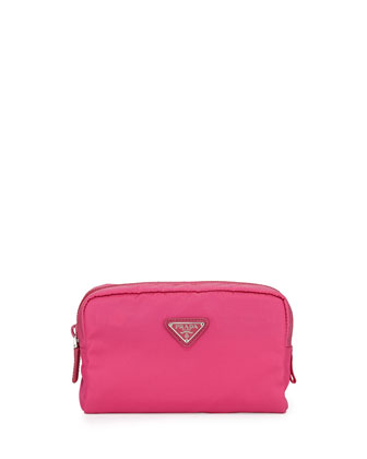 Vela Square Cosmetic Case, Pink (Fuxia)