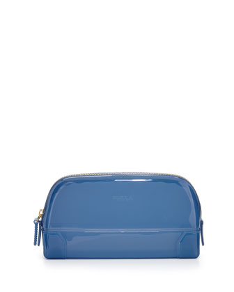 Rubber Extra-Large Cosmetics Bag, Oxford