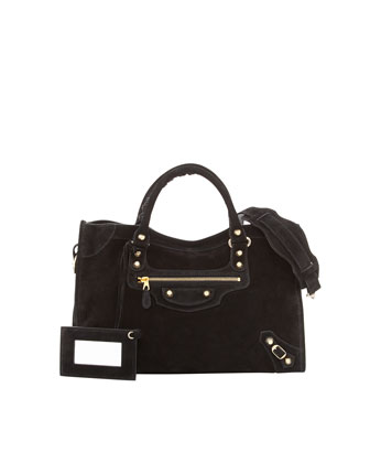 Giant 12 Golden Suede City Bag, Black