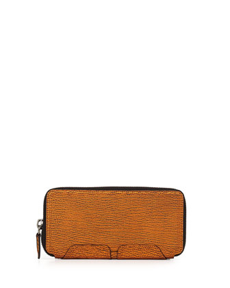 Pashli Zip-Around Wallet, Copper