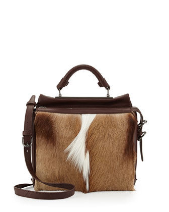 Ryder Small Antelope Satchel Bag, Natural