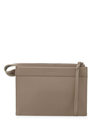 Depeche Small East-West Clutch Bag, Elefante