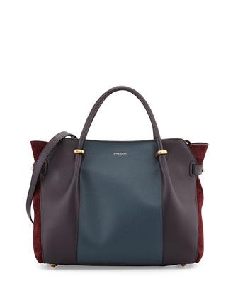 Marche Tricolor Leather Satchel Bag