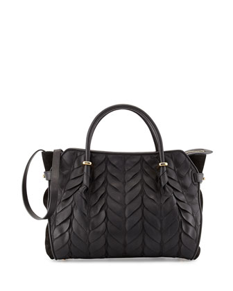 Marche Mini Petal Satchel Bag, Black