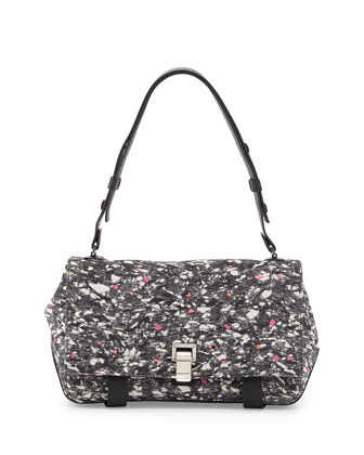 Courier Carpet Pad Shoulder Bag, Gray/Multi