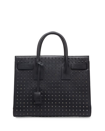Sac de Jour Small Studded Carryall Bag, Black