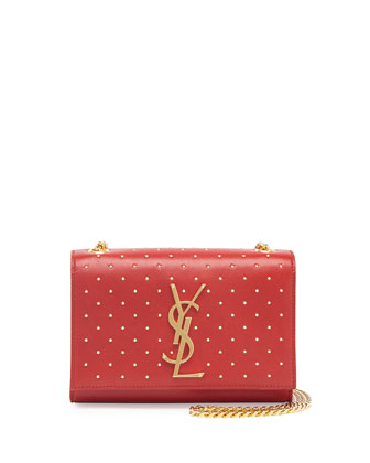 Monogramme Studded Crossbody Bag, Red