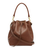 Medium Bucket Shoulder Bag, Cognac
