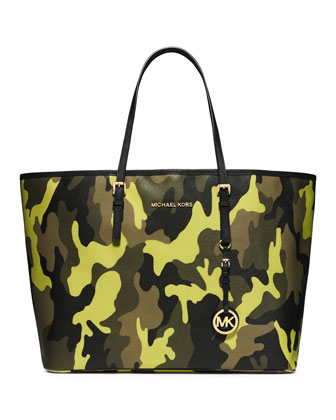 Medium Jet Set Camo Travel Tote