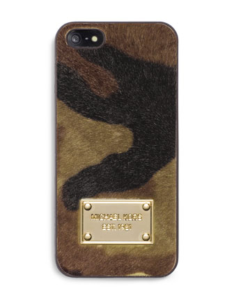 Camo Calf-Hair Phone Cover