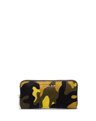 Jet Set Camo Continental Wallet