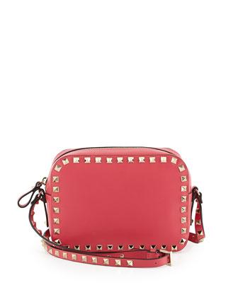 Rockstud Camera Crossbody Bag, Pink