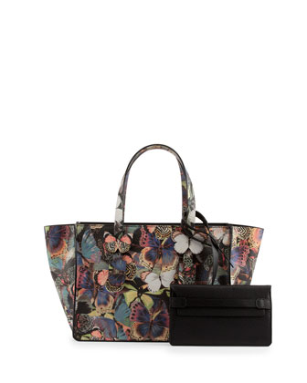 Small Butterfly Camouflage Tote Bag