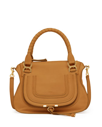 Marcie Medium Shoulder Bag, Tan
