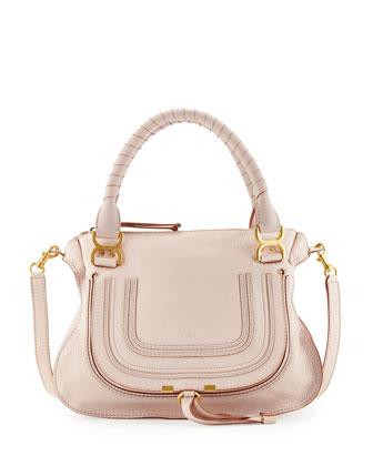 Marcie Medium Satchel Bag, Nude (Pink)