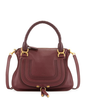 Marcie Medium Satchel Bag, Purple