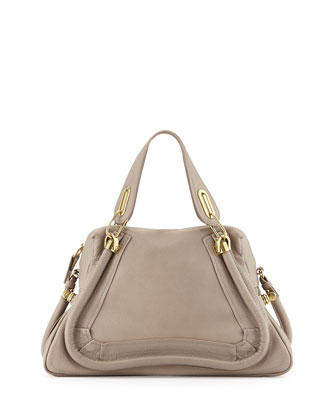Paraty Medium Satchel Bag, Gray