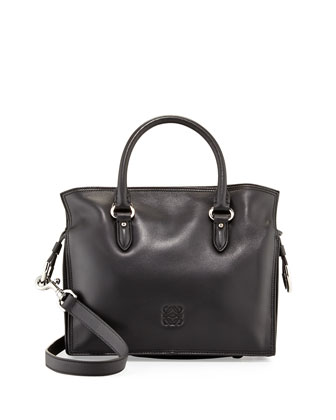 Flamenco 23 Calfskin Tote Bag, Black