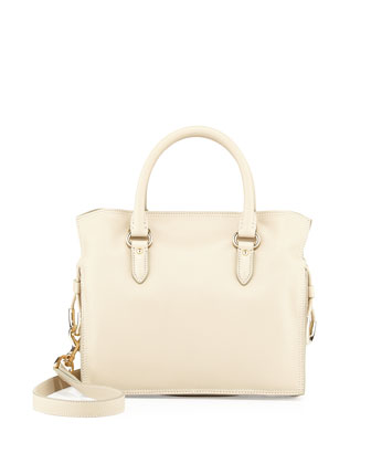 Flamenco 23 Calfskin Tote Bag, Cream