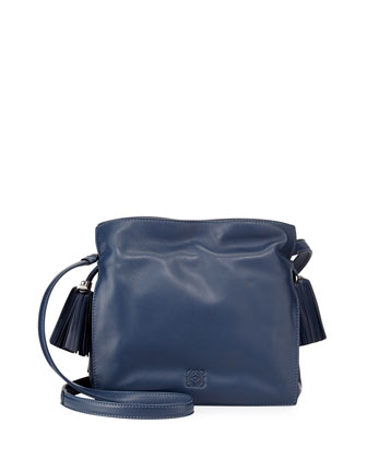 Flamenco 22 Lambskin Drawstring Bag, Blue