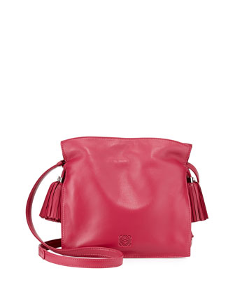 Flamenco 22 Lambskin Drawstring Bag, Ruby