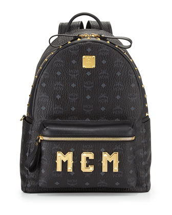 Stark M Collection Studded Backpack, Black