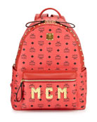 Stark M Collection Studded Backpack, Red