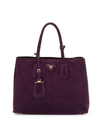 Suede Double Bag, Dark Purple (Prugna)