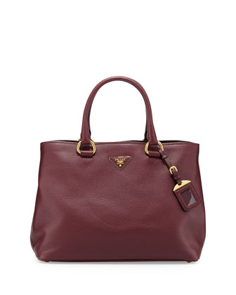 Vitello Daino Tote Bag, Bordeaux (Granato)