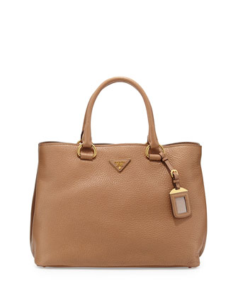 Vitello Daino Tote Bag, Tan (Sesamo)