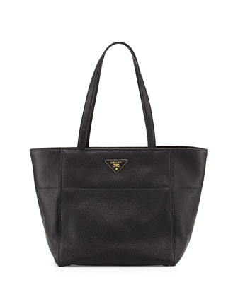 Vitello Daino Shopper, Black (Nero)
