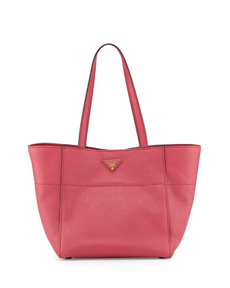 Vitello Daino Shopper, Fuchsia (Peonia)
